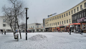Street in the center of Imatra Stock Images