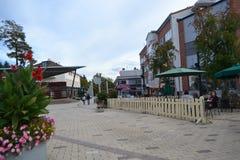 Street in the center of Imatra Stock Photo