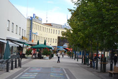 Street in the center of Imatra Stock Image