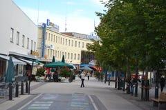 Street in the center of Imatra Stock Image