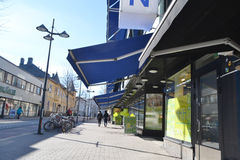 Street in the center of Lappeenranta. Royalty Free Stock Photography