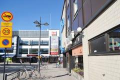 Street in the center of Lappeenranta. Stock Image