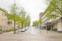 Street in the center of Lappeenranta. Stock Images