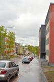 Street in the center of Lappeenranta. Royalty Free Stock Photos