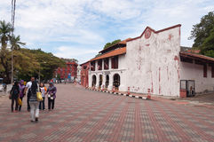On the street in the center of Malacca city Stock Image