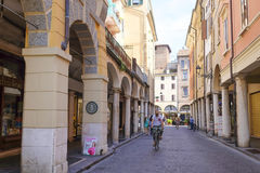 Street in a center of Mantua Royalty Free Stock Photography