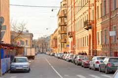 Street in center of Petersburg. Stock Photography