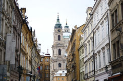 Street in center of Prague Royalty Free Stock Image