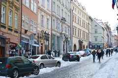 Street in center of Prague Royalty Free Stock Photography