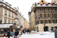Street in center of Prague Stock Photo