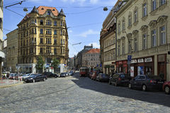 Street in the center of Prague Royalty Free Stock Photos