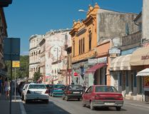 Street in the center of Pula, Croatia Royalty Free Stock Photography
