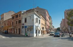 Street in the center of Pula, Croatia Royalty Free Stock Images