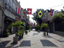 Street in the center of Rio de Janeiro royalty free stock photo