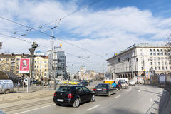 Street  in the center of Sofia,Bulgaria Stock Photo