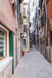 Street in a center of Venice. Venice, Italy, June, 21, 2016: image of a street in a center of Venice, Italy Stock Images