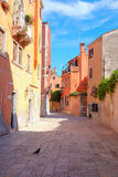 Street in a center of Venice. Venice, Italy, June, 21, 2016: the image of a street in a center of Venice, Italy Royalty Free Stock Photo