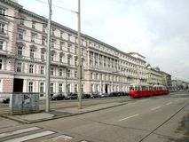 Street in the central area of Vienna Royalty Free Stock Images