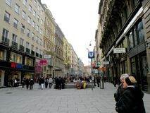 Street in the central area of Vienna Stock Image