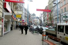 Street in the central area of Vienna Stock Photo