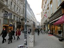 Street in the central area of Vienna Royalty Free Stock Photo