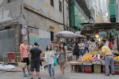 Street at central of hong kong Stock Photography