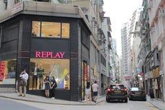 Street at central of hong kong Royalty Free Stock Photos