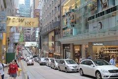 Street at central of hong kong Royalty Free Stock Images