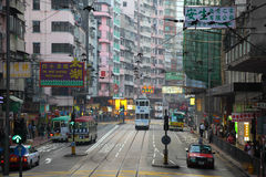 Street in Central Hong Kong Stock Images