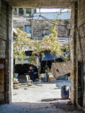 Street in central old aleppo city in syria Stock Photos