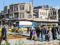 Street in central old aleppo city in syria Royalty Free Stock Photo