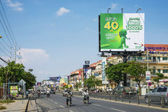 Street in central phnom penh city cambodia Royalty Free Stock Images