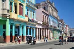 Street in the centre of Havana. Stock Images