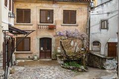 Street in the centre of Kastav. KASTAV / CROATIA - APRIL 2014: Street in the centre of Kastav, Croatia Royalty Free Stock Images