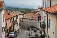 Street in the centre of Kastav. KASTAV / CROATIA - APRIL 2014: Street in the centre of Kastav, Croatia Stock Images