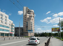 Street in the centre of Yekaterinburg. Russia Royalty Free Stock Image