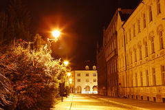 Budejovice city in night Royalty Free Stock Photos