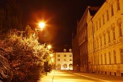 Budejovice city in night Royalty Free Stock Photos