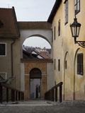 Street in Cesky Krumlov, Czech Republic Royalty Free Stock Photos