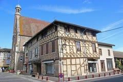 Street in Châtillon-sur-Chalaronne Stock Image