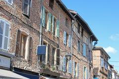 Street in Châtillon-sur-Chalaronne Royalty Free Stock Photos