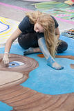 Street Chalk Festival Stock Photo