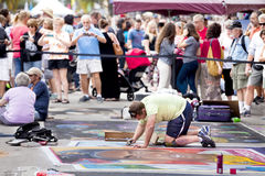 Street Chalk Festival Stock Images