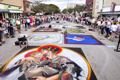 Street Chalk Festival Royalty Free Stock Photography