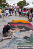 Street Chalk Festival Stock Photos