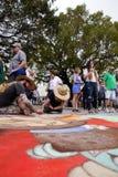 Street Chalk Festival Stock Photo