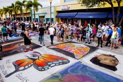 Street Chalk Festival Stock Images