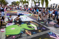 Street Chalk Festival Royalty Free Stock Image