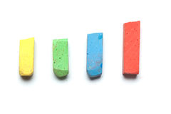 Street chalk for kids,  on white Royalty Free Stock Photo