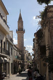 Street in Chania, Greece Royalty Free Stock Images